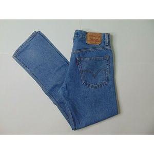 Levi's 505 32 X 34 Regular Fit Blue Jeans Denim
